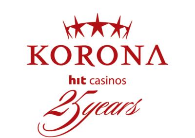 Logotip 25 obletnica casino Korona